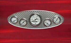 1932 Ford style gauge panel with engine turned insert