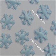 100 x 25 mm bleu pâle matériel flocon loose embellissements Pour congelés thème