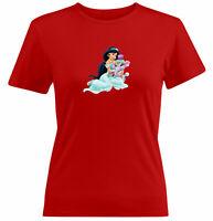 Juniors Girl Women Tee T-Shirt Gift Print  CuteAladdin Princess Jasmine Cartoon