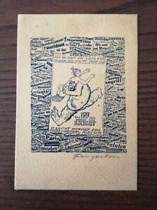 "Ex Libris Michel Fingesten ""1937"" Cliché"
