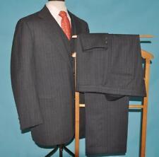 3 Piece Brooks Brothers Golden Fleece 41 L gray pinstripe 100% wool suit (#y3j5