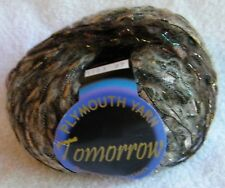 "1 Skein Plymouth ""Tomorrow"" Nylon Mohair Blend Brown Super Bulky Ribbon Yarn"