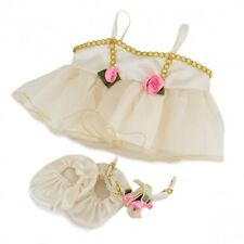 """Ivory & gold ballerina outfit teddy bear clothes fits 15"""" Build a Bear"""