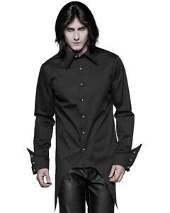 Punk Rave Mens Gothic Vampire Shirt Top Black Steampunk VTG Victorian Wedding