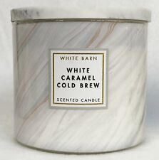 1 Bath & Body Works WHITE CARAMEL COLD BREW Large 3-Wick Scented Candle 14.5 oz