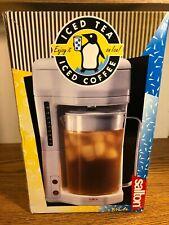 Salton White Ice Tea Coffee Maker KM-44 NEW Iced Beverage Home Garden Patio Bar