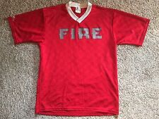 Vintage Majestic MLS Chicago Fire Soccer Jersey Mens Sz Medium Red