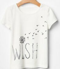 70% OFF! AUTH BABY GAP GIRLS' 'WISH' GLITTER GRAPHIC TEE 2 YEARS BNEW US$ 12.99+