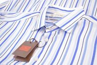 NWT ETRO Shirt Size 44 Made in Italy Blue White Stripe Dress Casual New