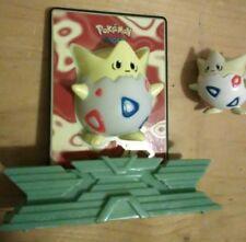 2 Vintage Togepi TOMY Nintendo Power Card Pokemon Figures rare Kanto Johto  Lot