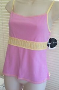 Planet Sleep Ladies Camisole Cami Top Sleepwear Pink Ruched Waistband Size Large