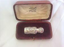 Antico Vittoriano in Argento Profumo Bottiglia 1898 + custodia originale