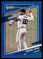 2021 Donruss Baseball Base Holo Blue #64 Marcell Ozuna - Atlanta Braves