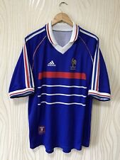 FRANCE 1998 HOME FOOTBALL SHIRT SOCCER JERSEY ADIDAS VINTAGE WORLD CUP