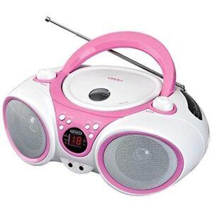 Repreductor De CD Con Radio AM Y FM Para Escuchar Musica Y Programas Color Rosa