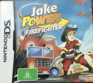 JAKE POWER FIREFIGHTER [Nintendo DS] 2DS 3DS Australian (G) Excellent Condition