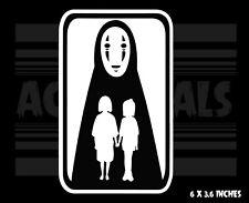 Spirited Away -  No Face - Chihiro - Haku -Ghibli - Anime - Vinyl decal sticker