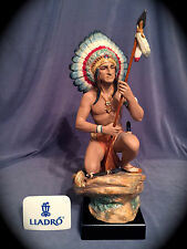 "Mint in Box Very Rare, Signed, COA Lladro ""Indian Chief""(3566 American Indian)"