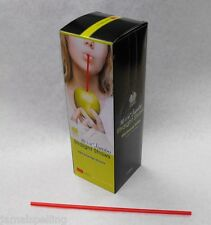 "250 piece 10.25"" Red Jumbo Drinking Straws Uj1025Red Soda Cocktail Free Ship"