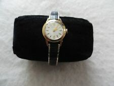 Swiss Made Caravelle Vintage Mechanical Wind Up Ladies Watch with a stretch band