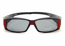 Red Frame UV400 POLARIZED SUNGLASSES GOGGLES Fits Wear/Cover Over RX Glasses