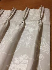 Extra Long Laura Ashley Josette Grey,Pinch Pleat Curtains,3 Cols,Made To Measure