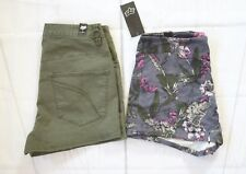 Fox Racing Women's Shorts (two pieces) - Fatigue Green/Black Vintage-Pink sz 3