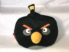 "12"" Angry Birds Large Black Plush Stuffed Animal Stuffed Microbead Pillow"