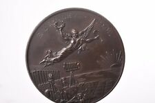 Prize medal photography in bronze. Burnley 1902 Ladies Class 2nd Miss L Harvey.