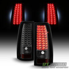 Smoke 1999-2002 Chevy Siverado GMC Sierra LED Tail Lights Brake Lamps Left+Right