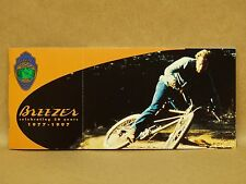 Vtg 1977-1997 Breezer Bicycle Mountain Bike Cycle Brochure Post Cards Racing