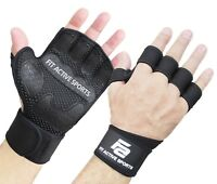 Fit Active Sports Weight Lifting Gloves with Wrist Wraps for gym cross training