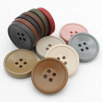 10PCS Wooden Round Buttons Coat Sided Hooking Sweater Buttons Clothes Sewing Acc