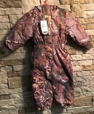 BROWNING REALTREE Camo Toddler Woolybear Zip Up Snowsuit Fully Lined NWT 2T