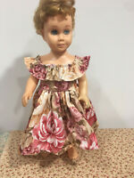 """Hawaiian High and Low Floral Party Dress Fits 19"""" Chatty Cathy Doll Clothes"""