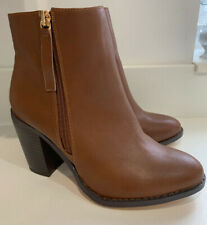 BN Ladies Oasis Tan Millie High Ankle Boots - Size 3