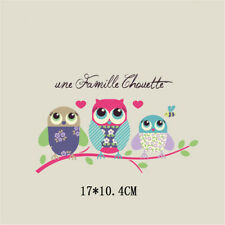 family owl heat transfer iron on patches thermal transfer patch for clothes