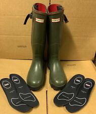 Rare Hunter Balmoral Olive Neoprene Lined Side Zipper Rubber Boots US 9 UK7 EU41