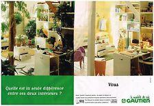 Publicité Advertising 1997 (2 pages) Les Meubles Gautier