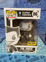 Funko Pop Dc Comics Super Heroes The Joker Black & White HT Exclusive wPop Prote