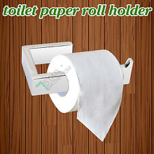 Silver Toilet Paper Holder Stainless Steel Roll Bathroom Commercial Square Wall