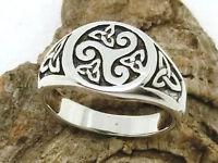 Triskele Triquetra 925 Silber Ring Siegelring Kelten keltischer Schmuck