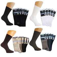 Socken ohne Gummi schwarz Herren Damen100% Baumwolle Diabetiker Arbeits Tennis**