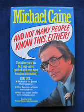 Book of Intriguing Facts & Information SIGNED by the Author Actor MICHAEL CAINE
