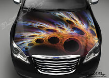 Color Vortex Full Color Graphics Adhesive Vinyl Sticker Fit any Car Bonnet #201