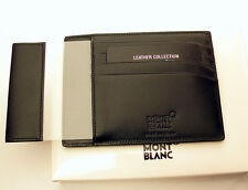 MONTBLANC Black Meisterstück pocket 4cc with Id card holder-calf leath  id 2665