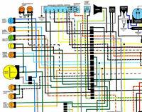 nos honda cb350 cl350 cb250 cl250 color wiring diagram ebay rh ebay com honda cl360 wiring diagram Honda CL360 Scrambler