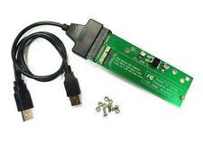 "MacBook AIR A1465 A1466 11"" 13"" 2012 SSD HDD to SATA Card USB CADDY ADAPTER"