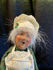 """New Listing2001 Byers Choice Caroler Woman Baked Goods in Hand 12 1/2"""""""
