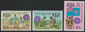 1974 Fiji SC# 351-353 - First National Boy Scout Jamboree - M-H